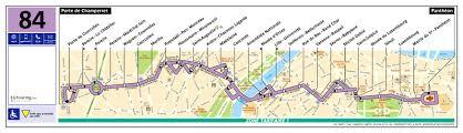 Route Map ratp route maps for paris bus lines 80 through to 89