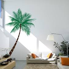 Large Wall Stickers Uk Beach Themes Living Room With Beach Palm Tree Wall Decal Wall In
