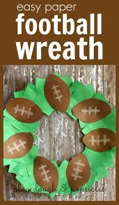 easy paper football wreath craft for kids excellent superbowl or