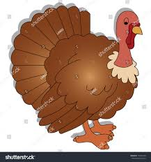cute turkey shadow effect on white stock vector 153354740
