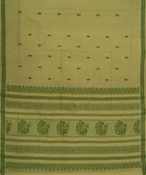 buy light pista color handloom bandar cotton saree gocoop