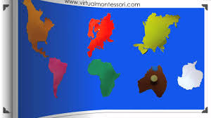 The World Map With Continents And Oceans by Montessori Geography The 7 Continents Youtube