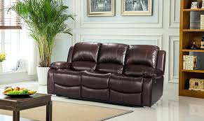 Luxury Leather Sofa Set Black Sectional Leather Sofa Roma Real Recliner 3 2 Suite Mission