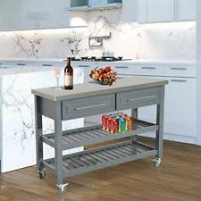 stainless steel islands kitchen stainless steel kitchen island ebay