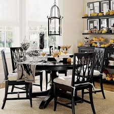 vintage black and white dining room set with antique wrought iron