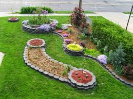 delighful flower garden ideas in front of house c throughout