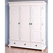cdiscount armoire de chambre armoire 3 portes 3 tiroirs en bois massif provence 3 blanche