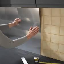 plaque inox cuisine castorama imposing plaque inox autocollante aluminium d co design metaldecor