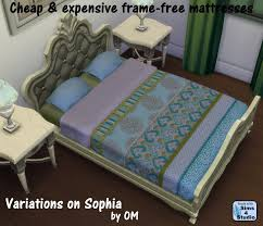 the sims 4 frame free double mattress variations for bed frames