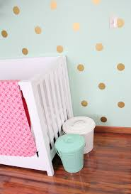 mint coral and gold nursery project nursery