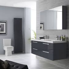 amazing perfect luxurious grey bathroom ideas designed perfect luxurious grey bathroom ideas designed with tiled wall and flooring also floating vanity about gray