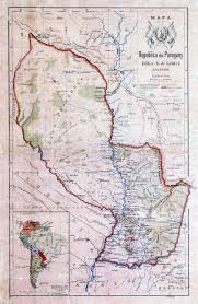 Topographical Map Of South America by Large Detailed Old Topographical Map Of Paraguay Paraguay