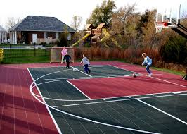 small backyard basketball court cost home outdoor decoration
