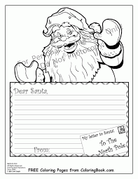 coloring pages santa dear leters coloring