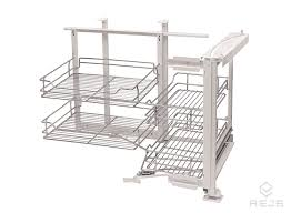 nuvola corner pull out shelving unit for cabinet width 800mm left