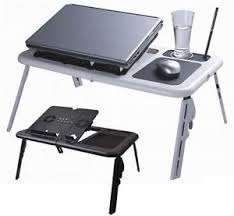 lap desk with fan laptop lap desk foldable table e table bed with usb fans