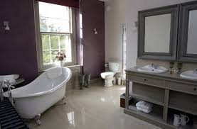 Purple And Grey Bathroom Inspiring Inexpensive Bathroom Design With Charming Wall Pattern