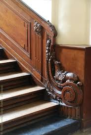 Handrail Rosette Ornamental Woodcarver Patrick Damiaens Hotel De Coninck In Ghent