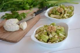 cuisiner celeri salade de céleri branche pomme chèvre et noix au fil du thym
