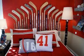 Pottery Barn Nhl Bedding Bedroom Organize Your Kids Bedroom Using Cool Hockey Bedding