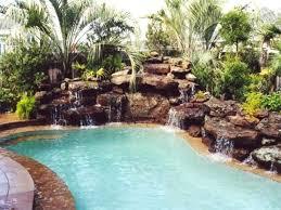 rock waterfalls for pools pool rock waterfall nice rock swimming pools on swimming pool