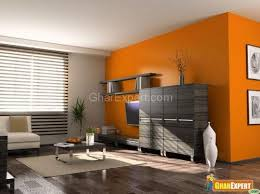 orange color paint in living room warm colors for a living room