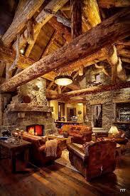 amazing log cabin interior photo on sunsurfer