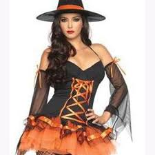 Halloween Costume Witch European American Style Lady Halloween Magic