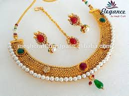 indian necklace set images Indian one gram gold plated necklace set traditional wedding jpg