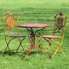 metal outdoor table and chairs garden bistro set bistro garden table 3 piece bistro set patio