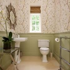 Green Powder Room Bathroom Paneling Ideas Bathroom Victorian With Striped Roman