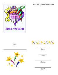 Birthday Card Invites Templates Free Printable Party Invitation Templates Cimvitation
