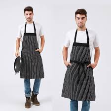 amazon com adjustable bib apron with pockets extra long ties