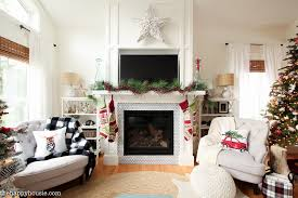 White House Christmas Decorations Tour by Classic Christmas Living Room Tour The Happy Housie