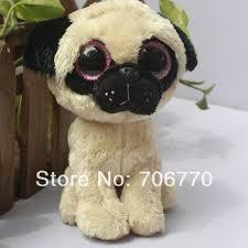 hand rare ty beanies boo cute big eyes animal pugsly pug