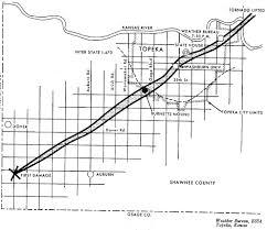Tornado Map 1966 Topeka Tornado