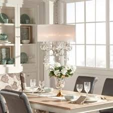 Dining Room Crystal Chandeliers Tribecca Home Silver Mist Hanging Crystal Drum Shade Chandelier