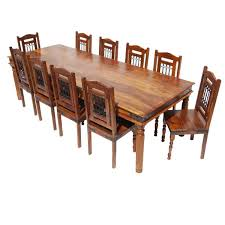 Huge Dining Room Tables Furniture Solid Wood Large Dining Room Table Chair Set