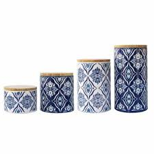 blue and white kitchen canisters blue canister set lovely vintage 3 porcelain canister set