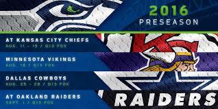 2016 seahawks preseason schedule announced seattle seahawks