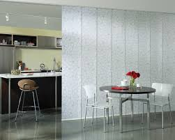 Retractable Room Divider Furniture Casual Kitchen Dining Room Design Ideas Using White