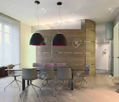 Wood And Glass Dining Table Glass Dining Table In A Modern Apartment With Boiserie And Wood