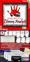 shakespeare u0027s macbeth literary analysis complete unit students