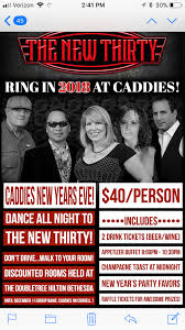 new year u0027s eve at caddies by caddies bar and grill on december 31