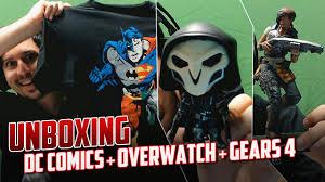 unboxing dc comics overwatch gears war 4