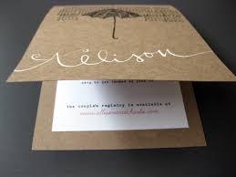invitation paper white kraft bridal shower invitations