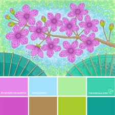 zen color mental color palette 2 balance your mind coloring branding by