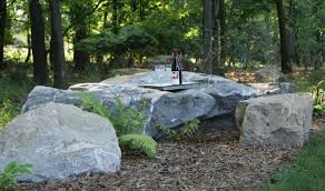 Rock In Garden Placing Boulders In Landscape Use Many Small Rocks Like River