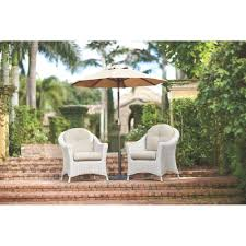 Martha Stewart Living Patio Furniture Replacement Cushions Martha Stewart Living Lake Adela Patio Bone Chat Chairs With Wheat