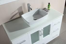 48 Single Sink Bathroom Vanity by Stanton 48 U2033 Single Sink Vanity Set With Vessel Sink In White